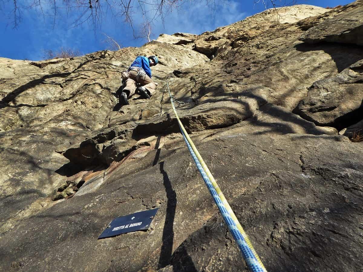 Klettern in Arnad