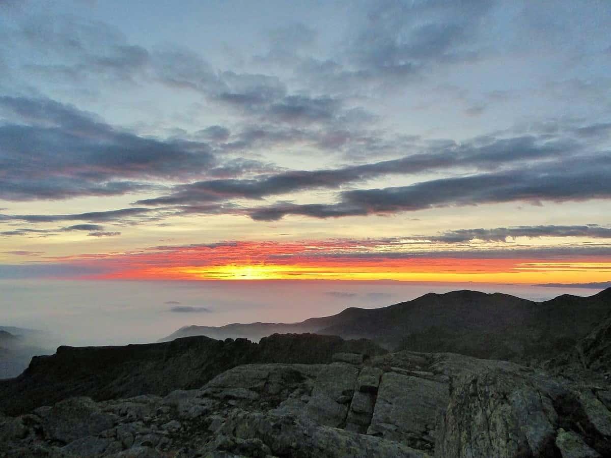 Sonnenaufgang beim Rifugio Quintino Sella