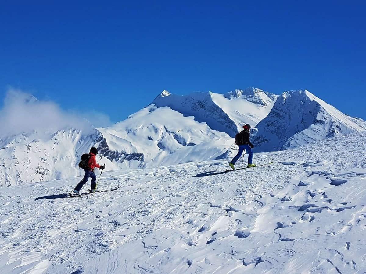 Im Aufstieg zum Spitzhorn. Im Hintergrund Monte-Leone