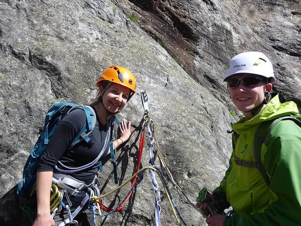 Klettern Fieschertal Bergführer Wallis Oggier