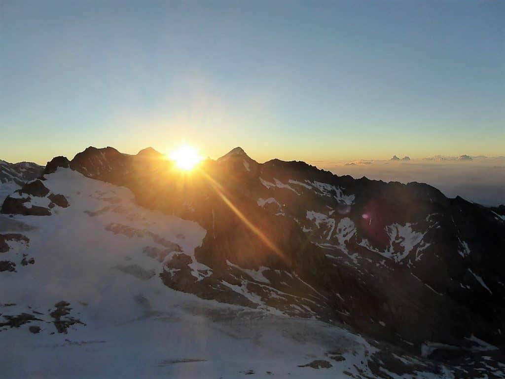 Bietschhorn Ost-Sporn Sonnenaufgang