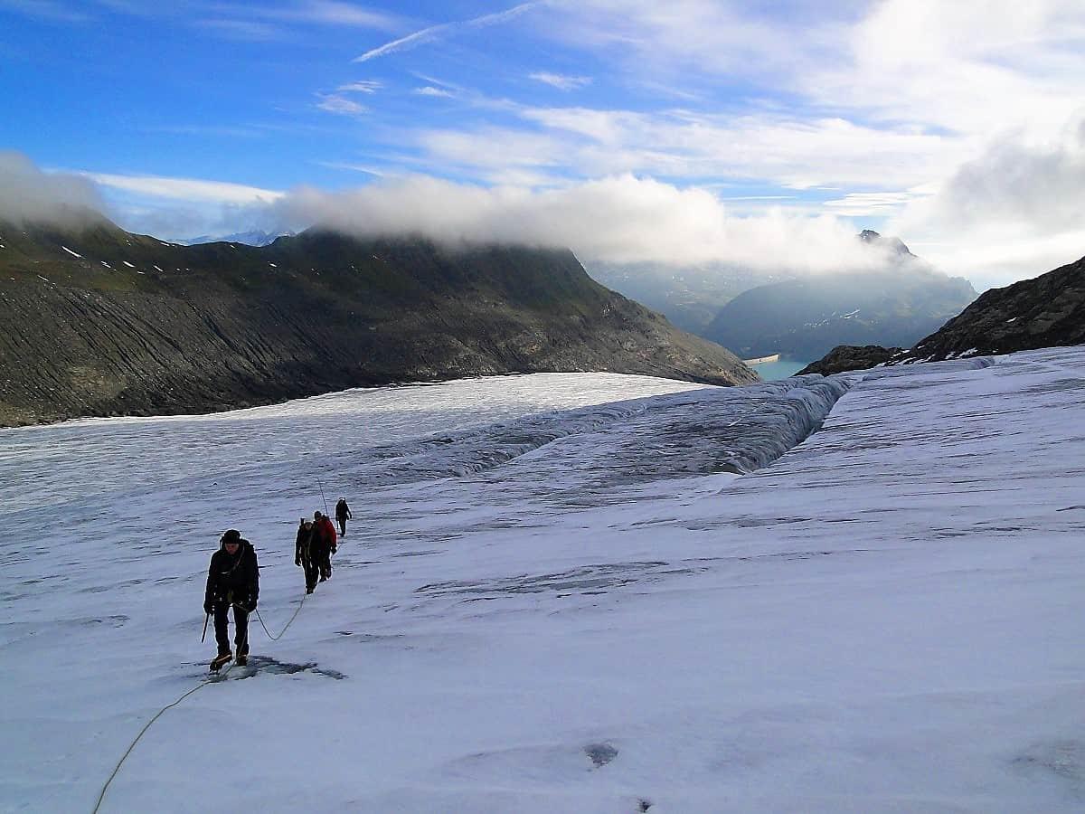Gletscher-Trekking Tour du Soleil Griessgletscher
