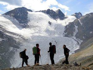 Gletscher-Trekking Tour du Soleil Hohsandgletscher