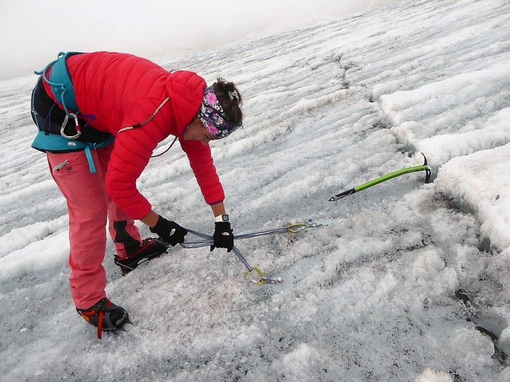 Hochtouren-Kurs mit 4000er Besteigung Eisschrauben