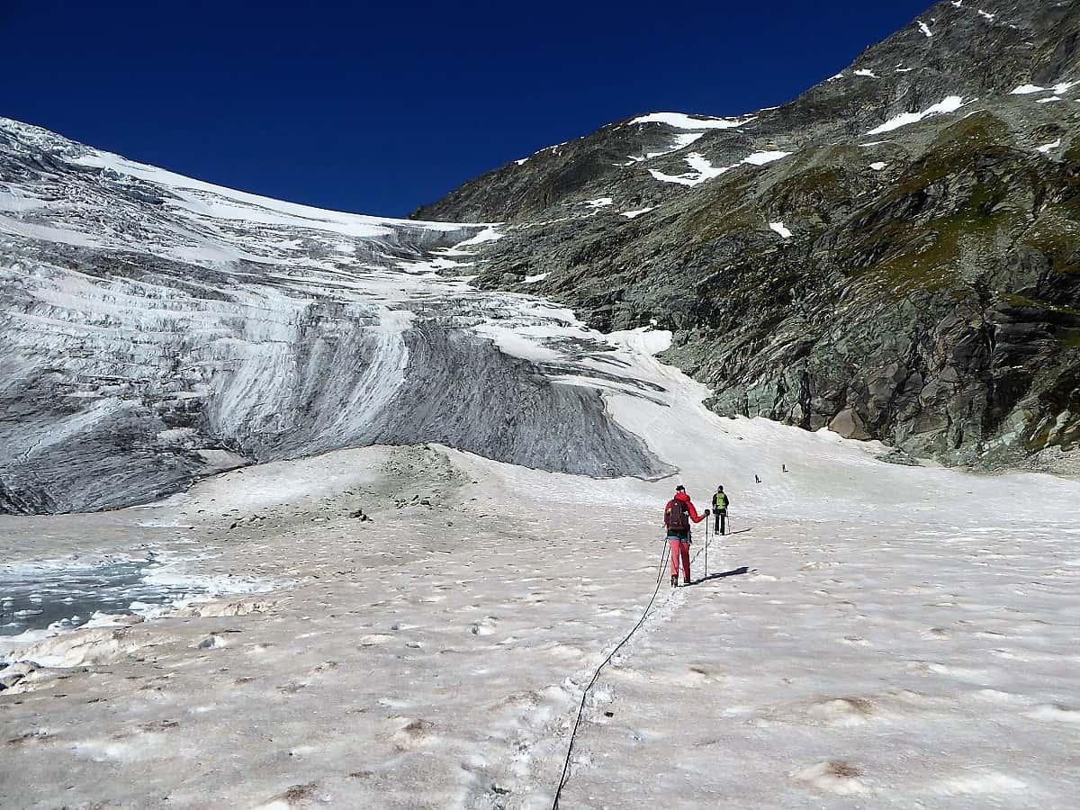 Hochtouren-Kurs mit 4000er Besteigung Turtmanngletscher