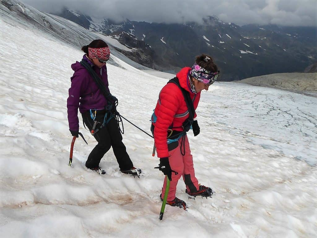 Hochtouren-Kurs mit 4000er Besteigung kurzes Seil