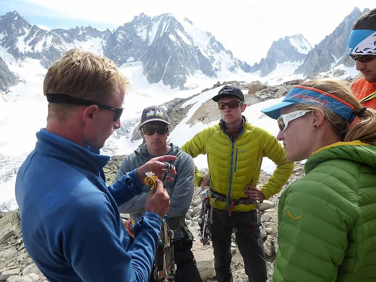 J+S Kursleiter 1 Bergsteigen im Orny- Trientgebiet Friends- und Keil-Ausbildung
