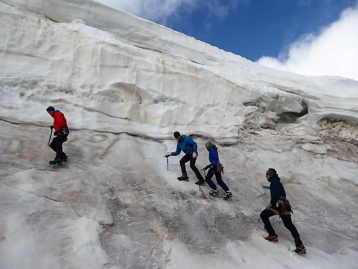 J+S Kursleiter 1 Bergsteigen im Orny- Trientgebiet Steigeisen-Ausbildung