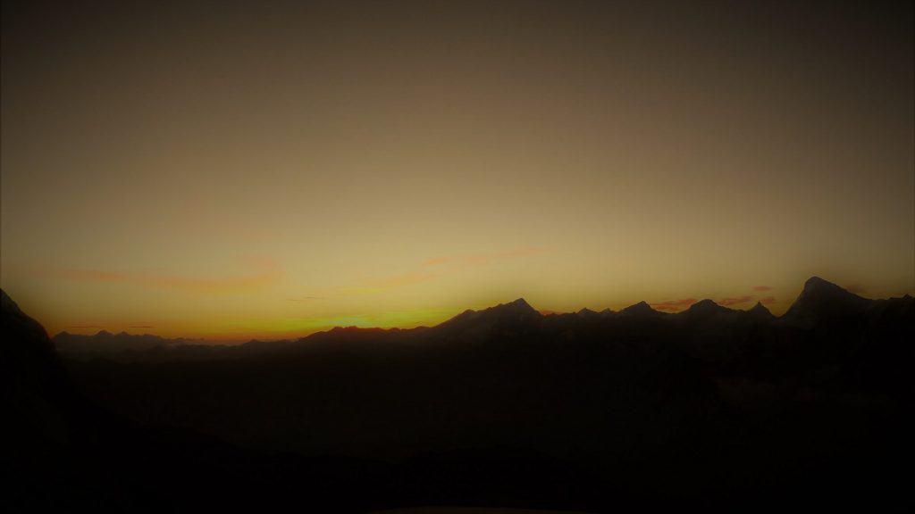 Aiguilles Rouges Arolla Sonnenaufgang