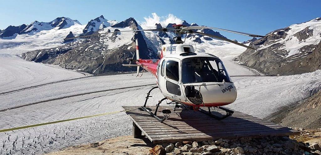 Aletschgletscher-Trekking Heli1