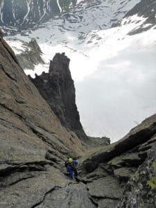 Klettern Furka Galengrat-Verschneidung