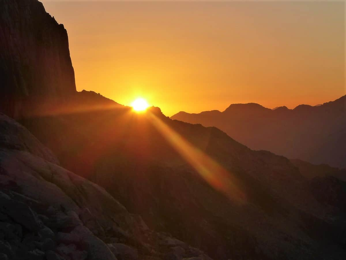 Klettern Furka Sonnenaufgang