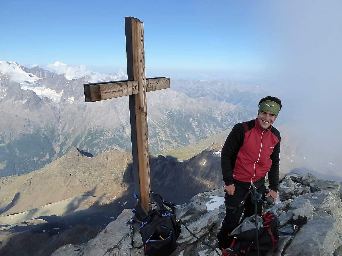 Lagginhorn Gipfel