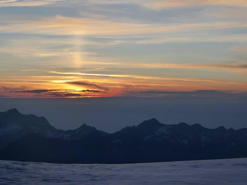 Alphubel Sonnenaufgang