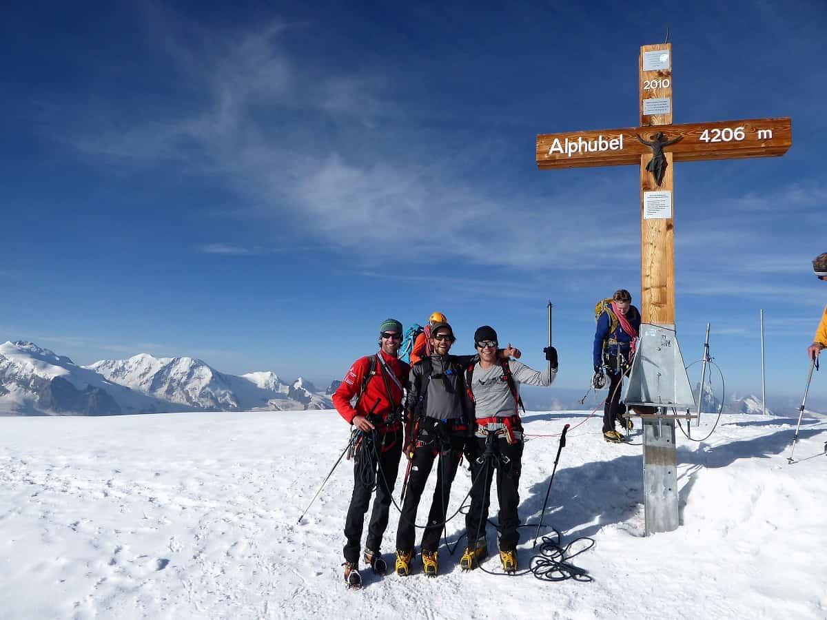 Alphubel Gipfel