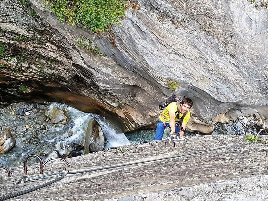Klettersteig Wallis : Klettersteig bietschi schlucht! bergführer andreas oggier wallis schweiz
