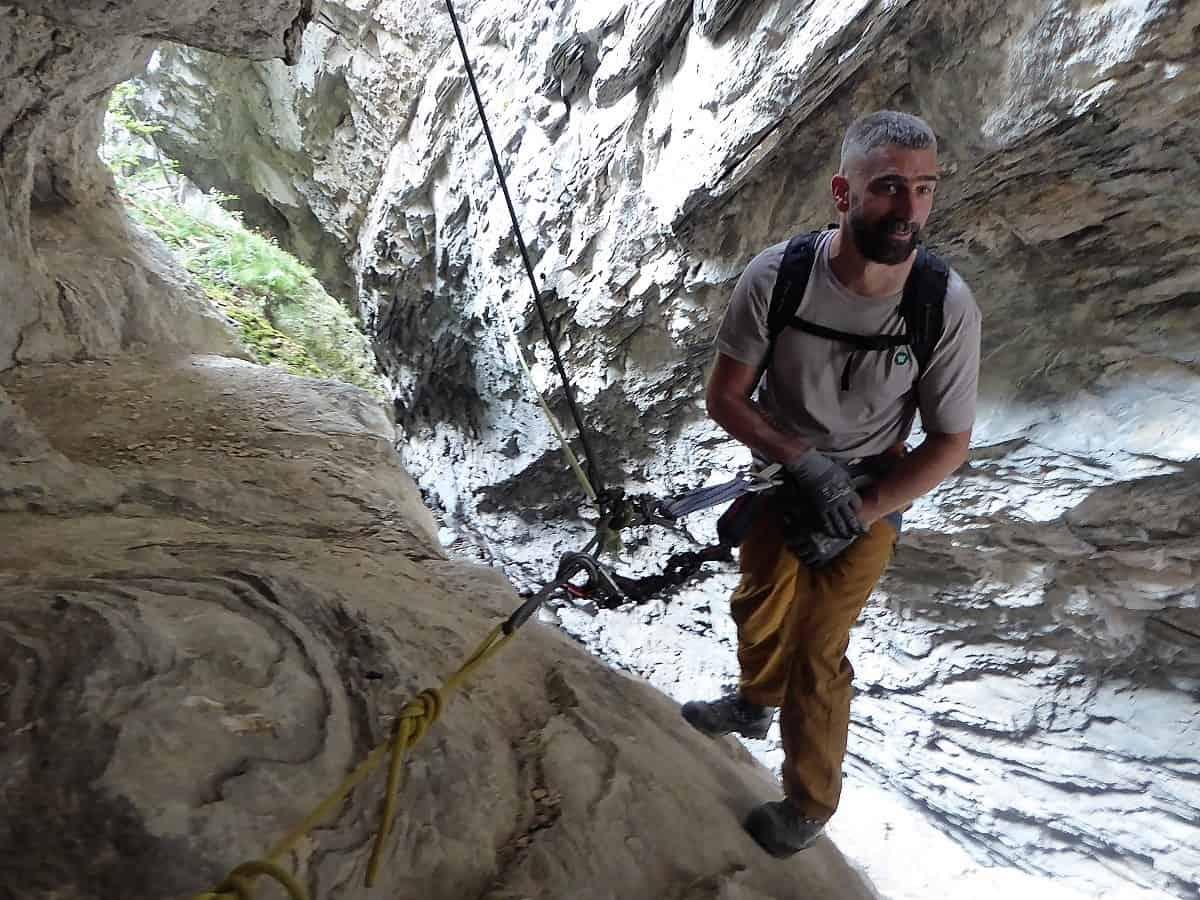 Klettersteig Wallis : Klettersteig bietschi schlucht bergführer andreas oggier wallis