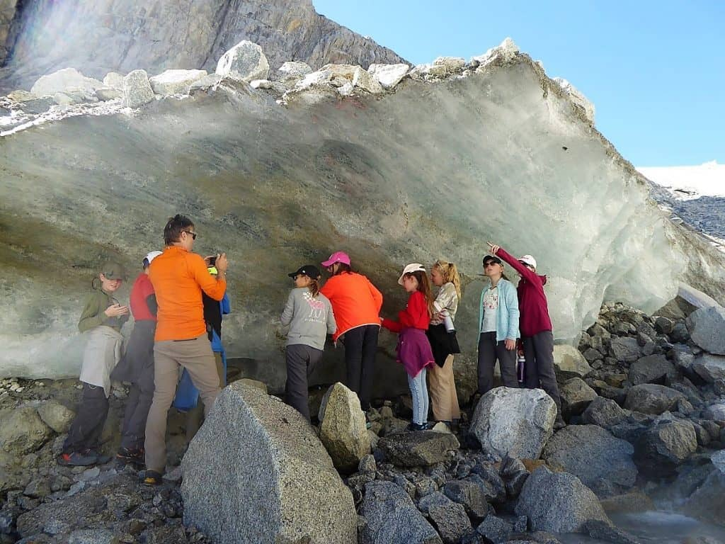 Projekt-Woche Alpenlernen Bächlitalhütte Gletscher 1