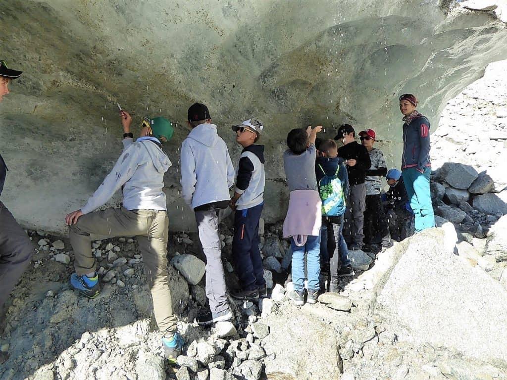 Projekt-Woche Alpenlernen Bächlitalhütte Gletscher