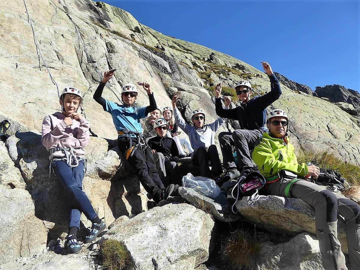 Projekt-Woche Alpenlernen Bächlitalhütte Klettern 1