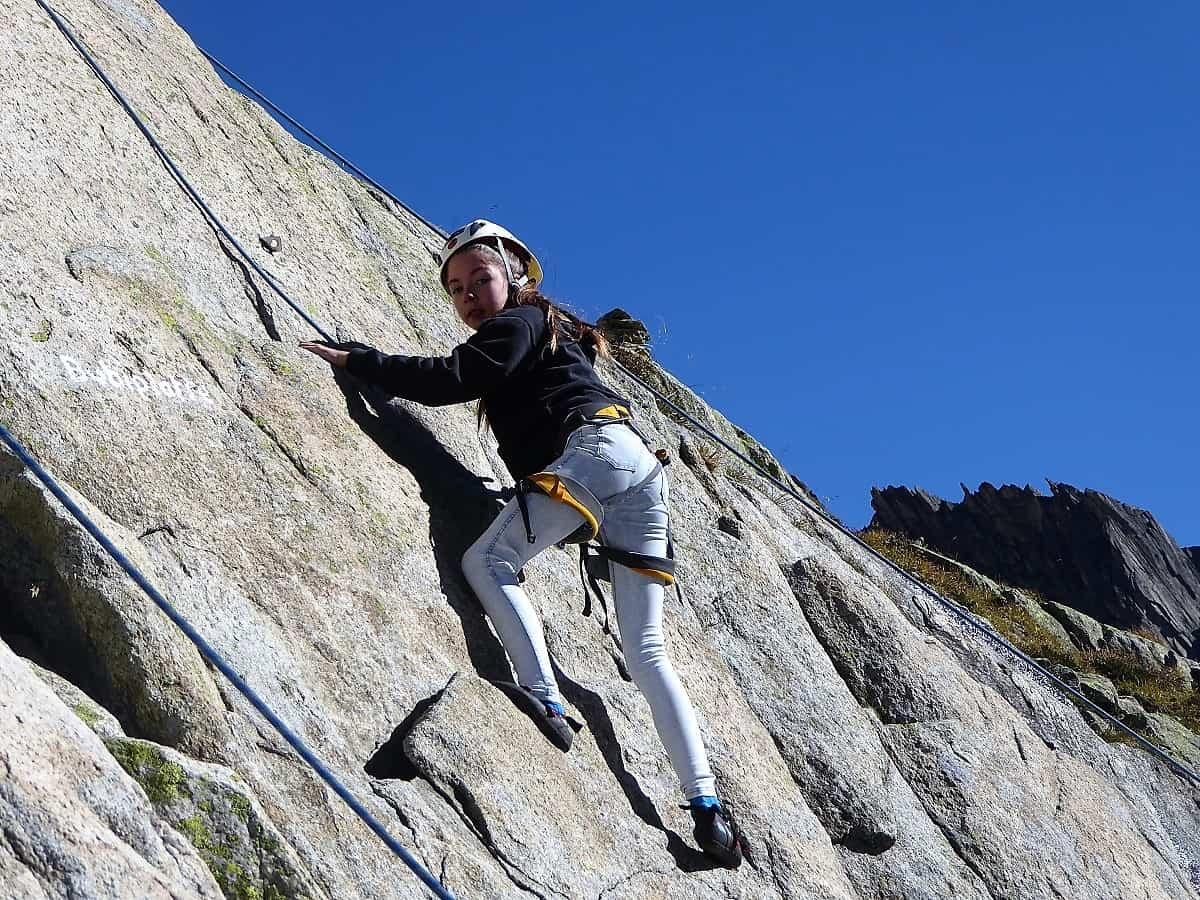 Projekt-Woche Alpenlernen Bächlitalhütte Klettern 2