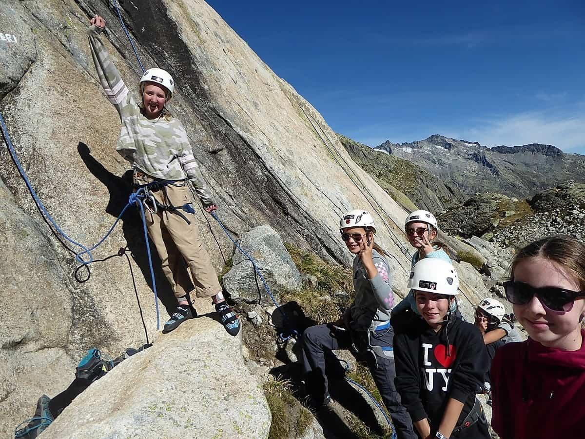 Projekt-Woche Alpenlernen Bächlitalhütte Klettern 4