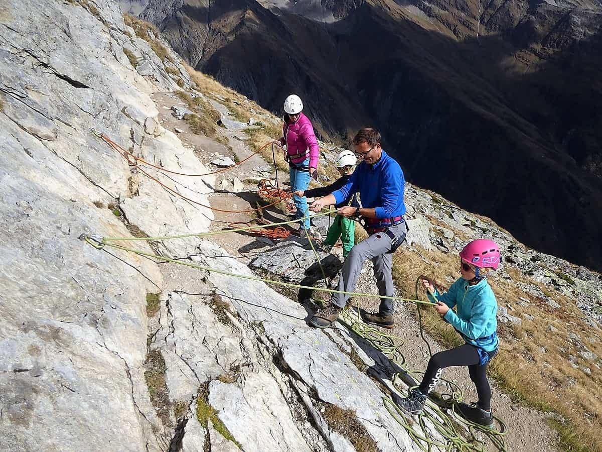 Familien-Bergsteigen Klettern Wiwannihorn 1
