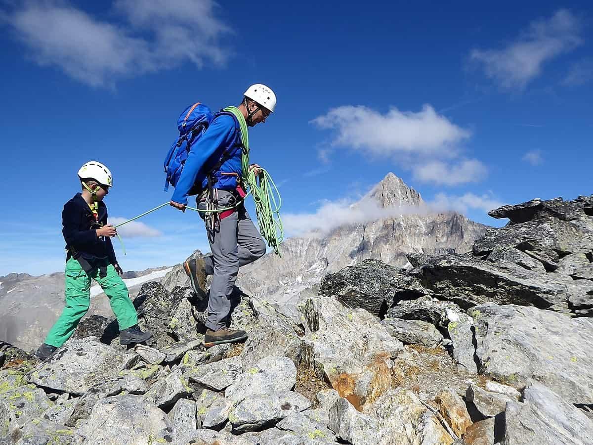 Familien-Bergsteigen Klettern Wiwannihorn 14