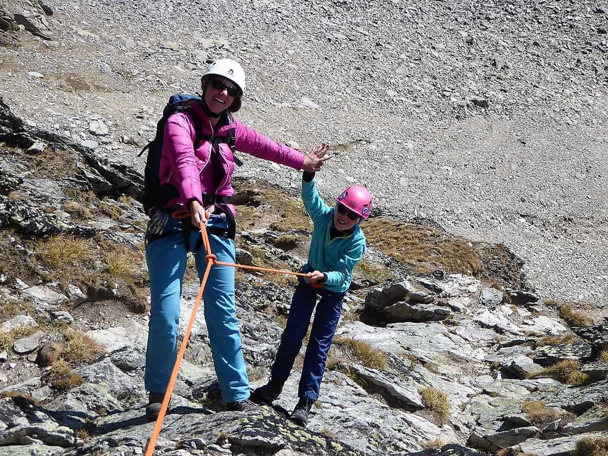 Familien-Bergsteigen Klettern Wiwannihorn 18