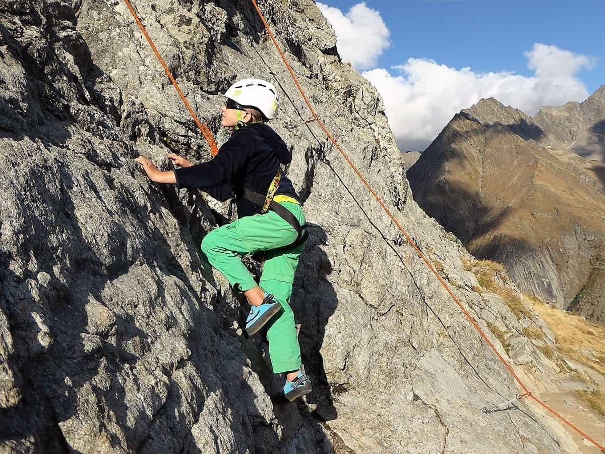 Familien-Bergsteigen Klettern Wiwannihorn 3