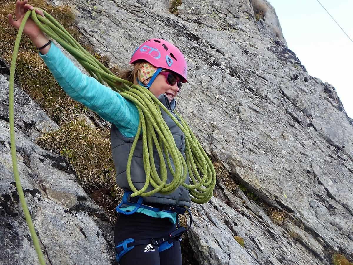 Familien-Bergsteigen Klettern Wiwannihorn 6