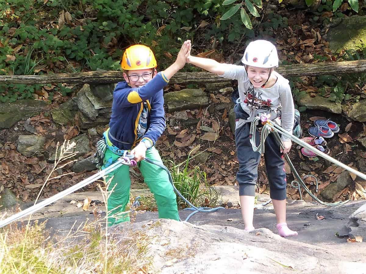 Kinder-Bergsteigen Herbst-Kletterlager 11