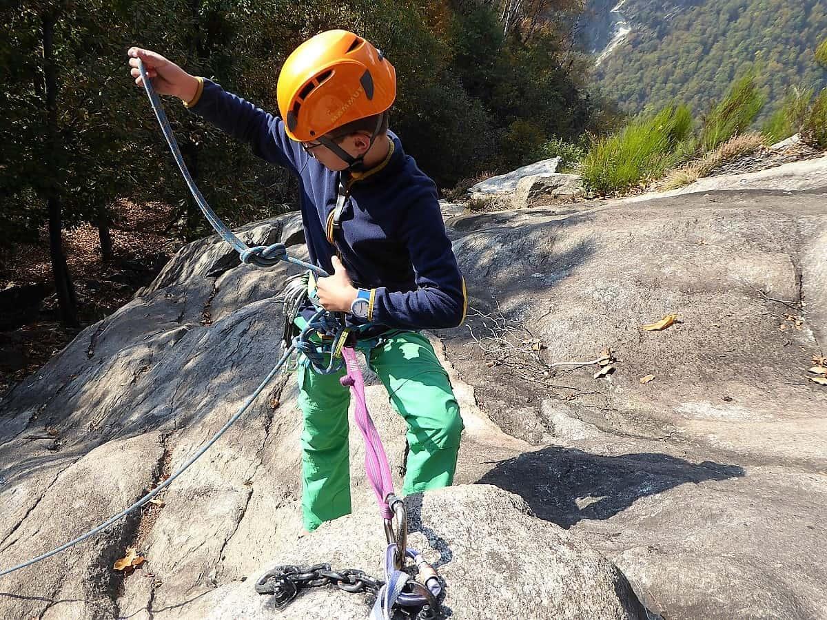 Kinder-Bergsteigen Herbst-Kletterlager 2