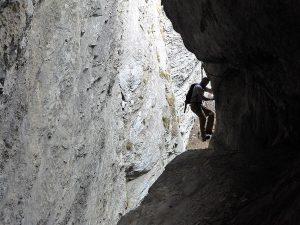 Bietschi-Schlucht Klettersteig Bergführer Wallis3