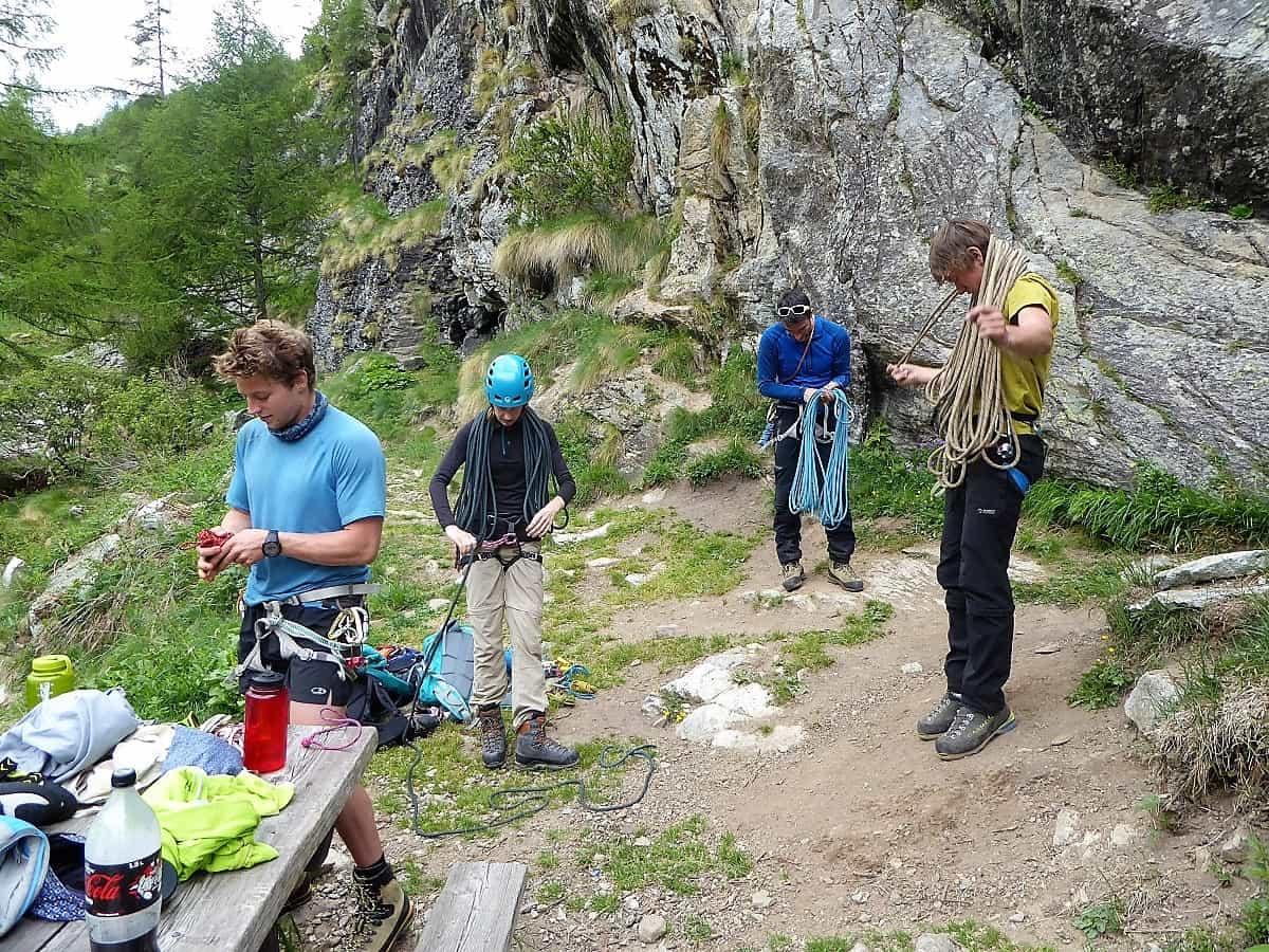 Klettern Aufbau-Kurs Ausbildung 7