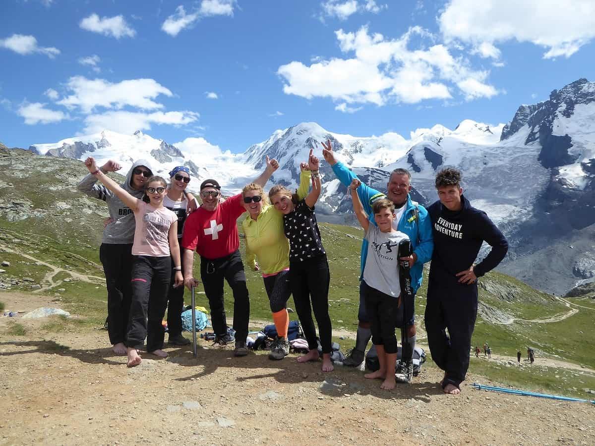 Monte Rosa Hütte Gletschertrekking