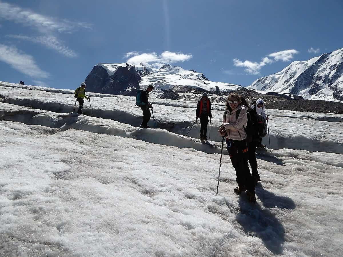 Monte-Rosa-Hütte Gletschertrekking 12