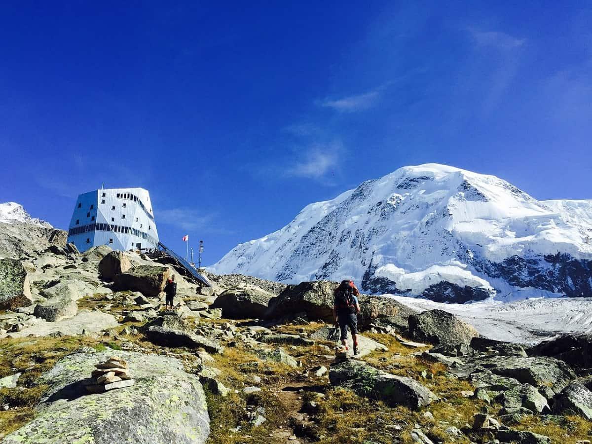 Monte Rosa Hütte und Liskamm