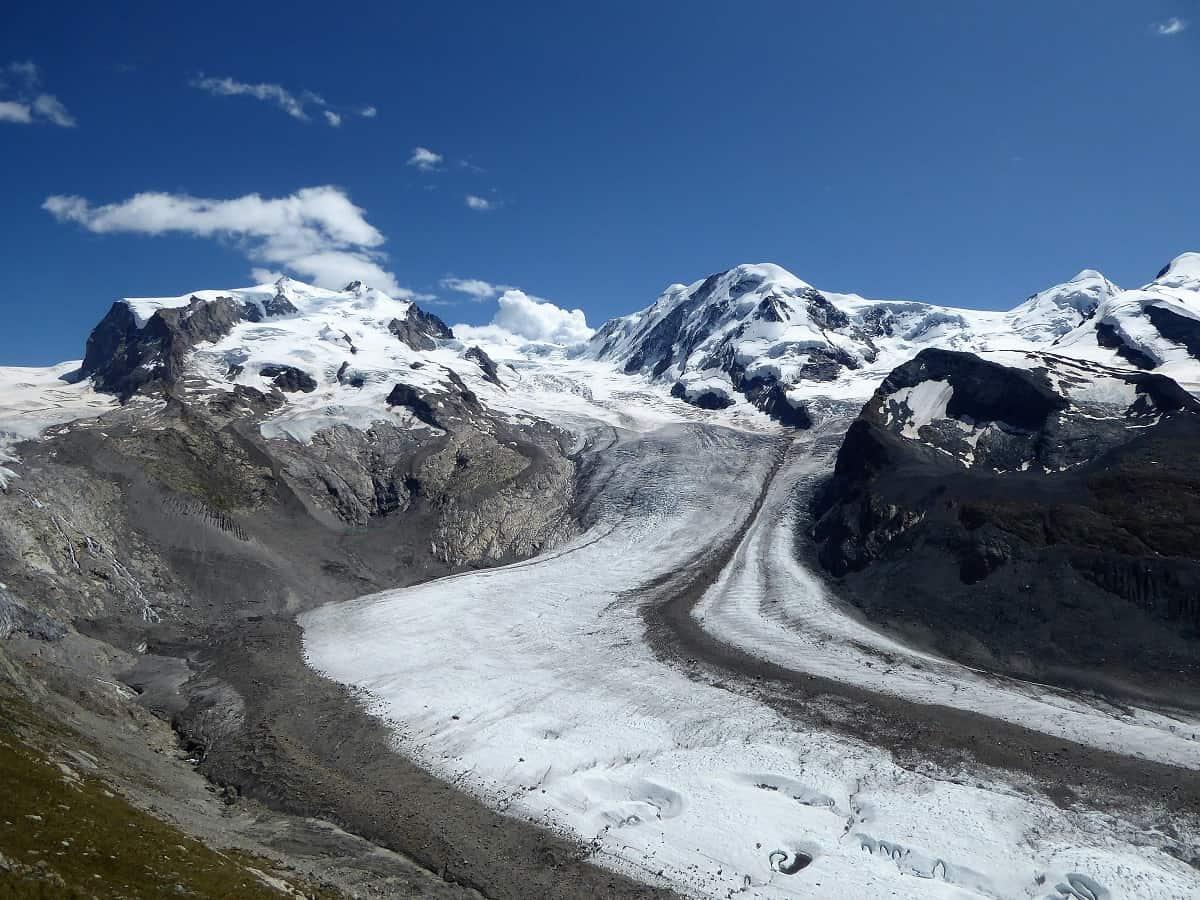 Gornergletscher mit Dufourspitze und Liskamm