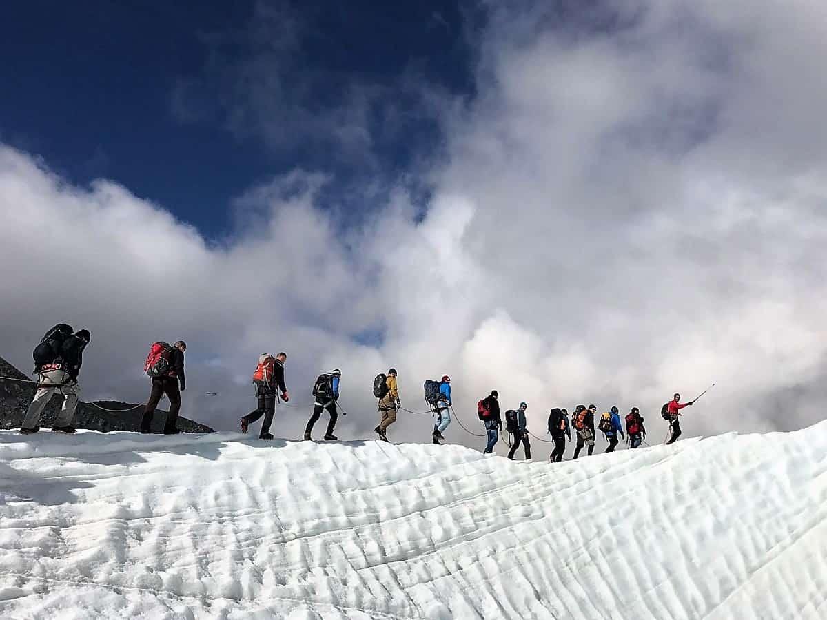 Monte-Rosa-Hütte Gletschertrekking 4