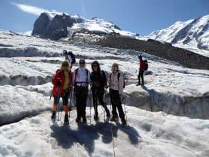 Monte-Rosa-Hütte Gletschertrekking 5