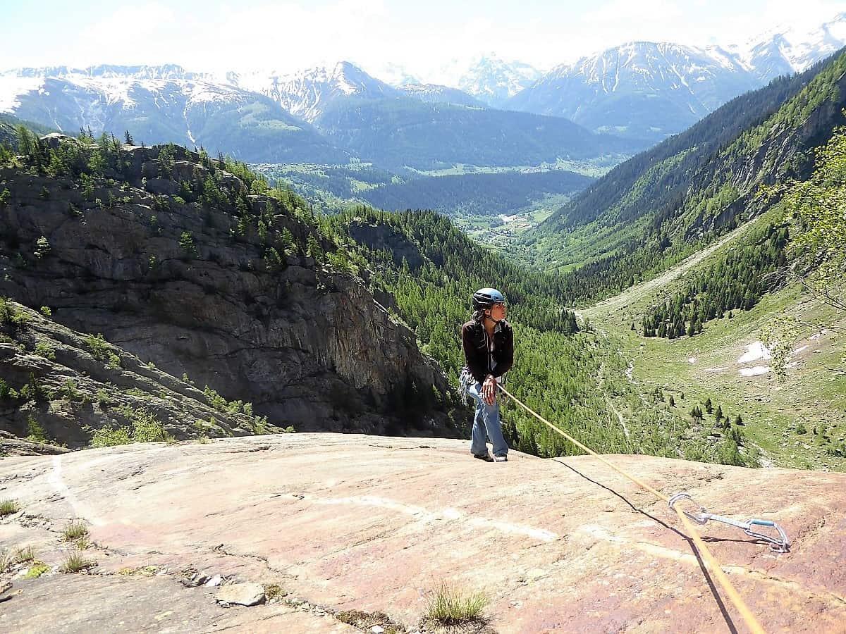 Mehrseillängen-Klettern Fieschertal