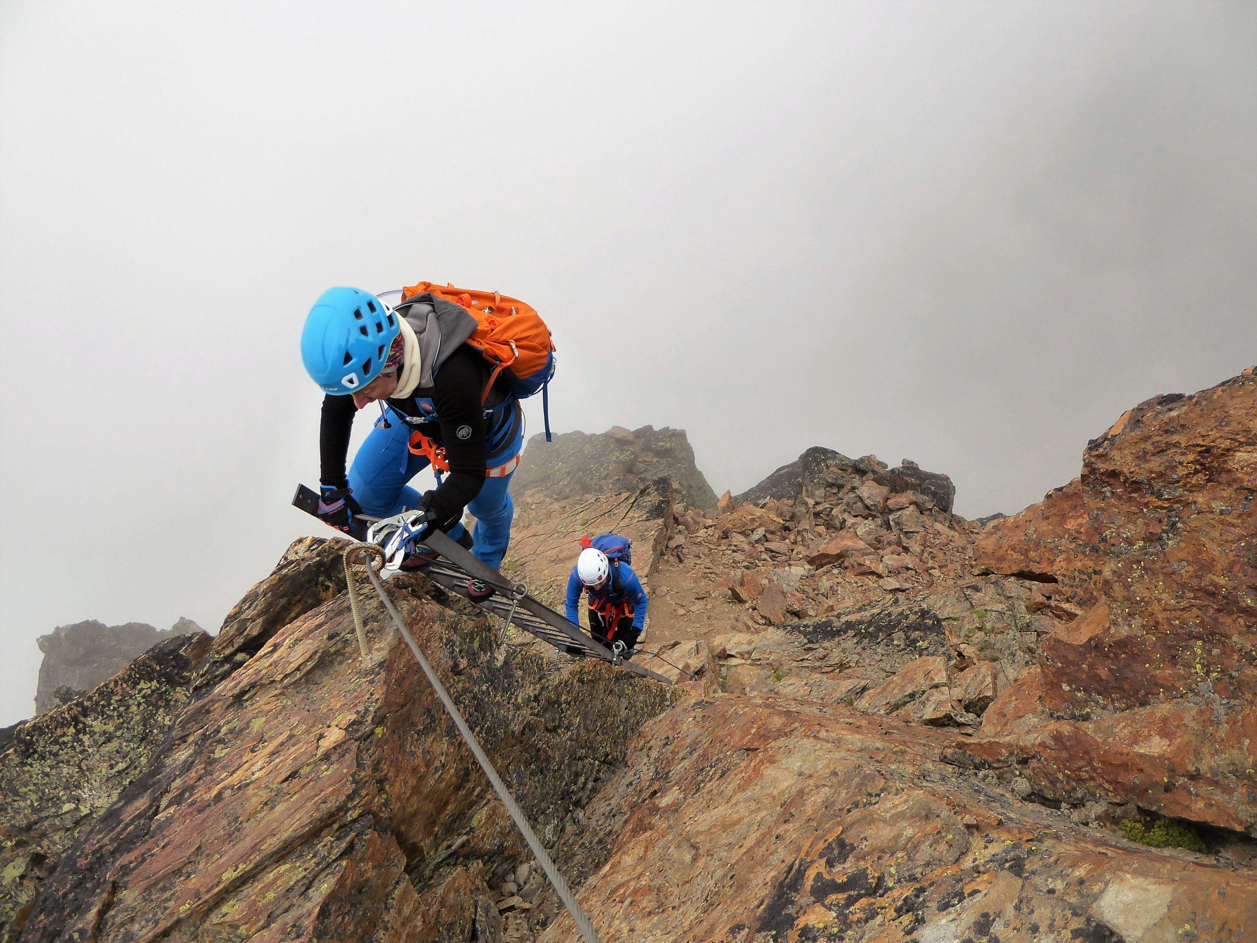 Klettersteig Kurs Bergführer Wallis Schweiz